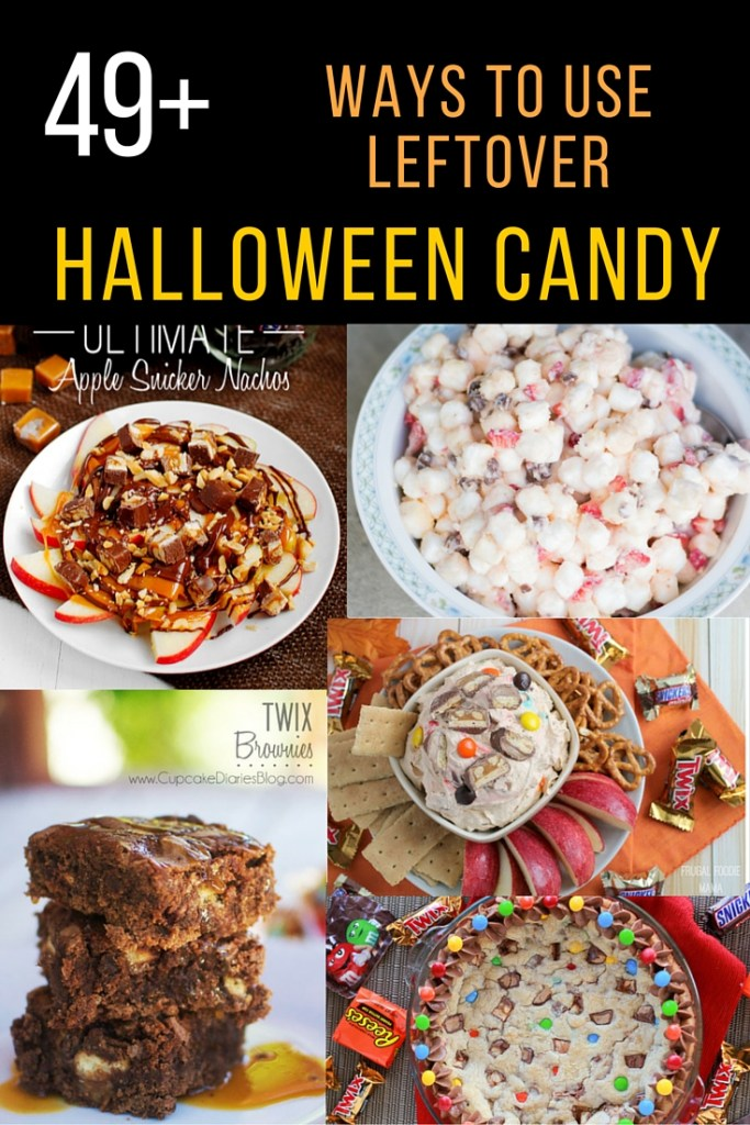 49+ amazing ways to use leftover Halloween candy! I know we have TONS!
