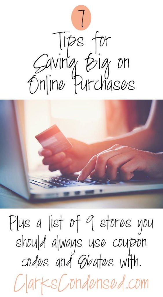 7 Tips for saving BIG on Online Purchases!