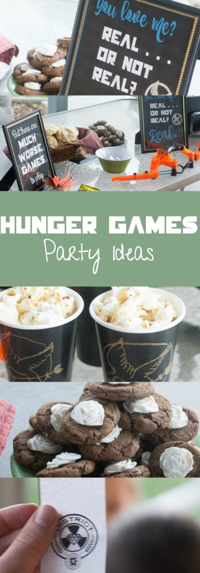 Lots of fun Hunger Games party ideas - Hunger Game's themed food, decor, and games!
