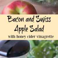 Bacon and Swiss Apple Salad with Honey Cider Vinaigrette