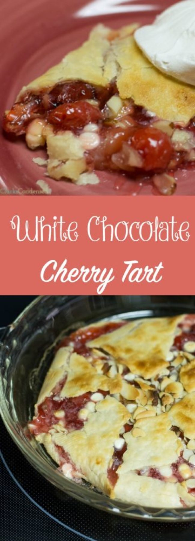 This white chocolate cherry tart recipe is SO easy and absolutely delicious. It's perfect for those nights where you need something sweet but don't feel like cooking up a storm!