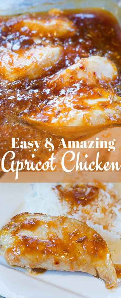 This apricot chicken recipe is one of my FAVORITE recipes ever - and it's so easy, too! via @clarkscondensed