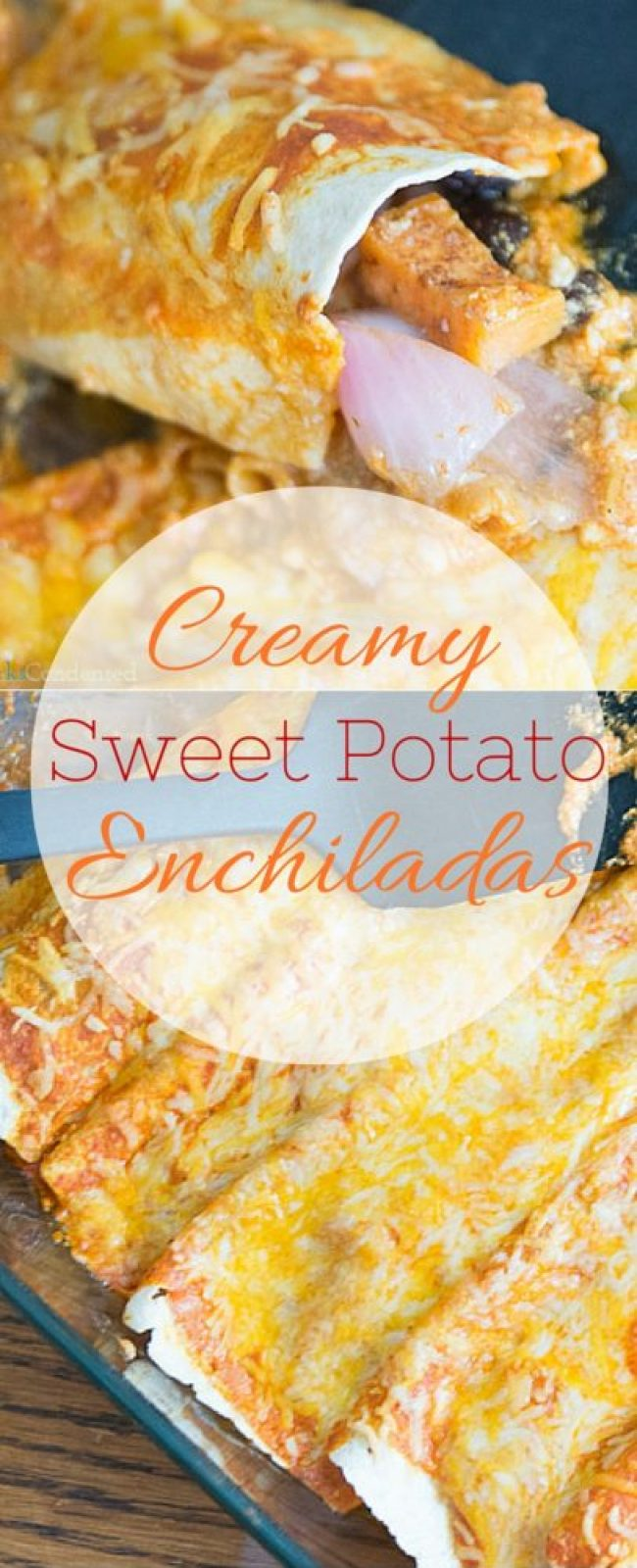 These creamy sweet potato enchiladas are the perfect meatless meal that the entire family will devour!