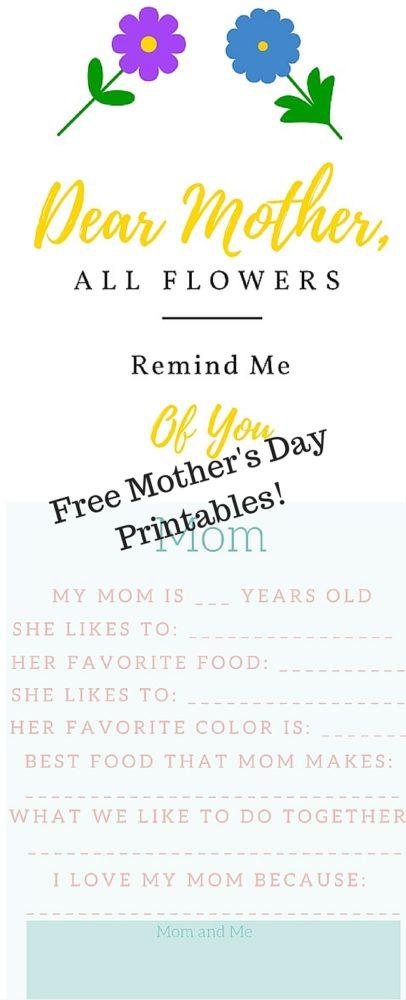 Free Mother's Day Printables via @clarkscondensed