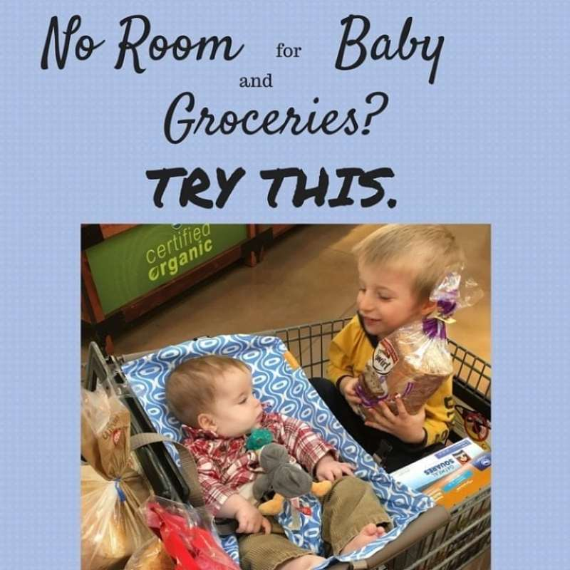 Do you ever go to the grocery store with your baby in their carrier and realize you have no room for groceries? This is what you need.