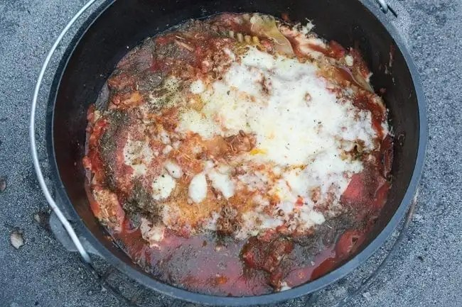 Dutch Oven Lasagna