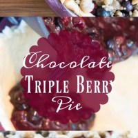 Chocolate Triple Berry Pie Recipe