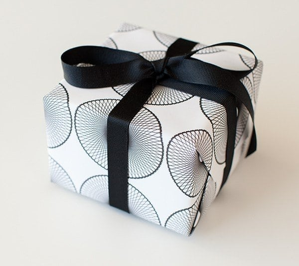 A close up of a gift wrapped