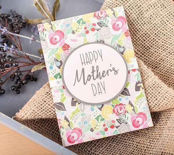 mother\'s day card on flowery background