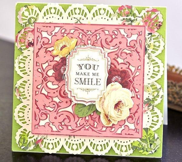 you make me smile card
