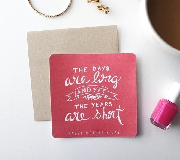 the days are long and yet the years are short card
