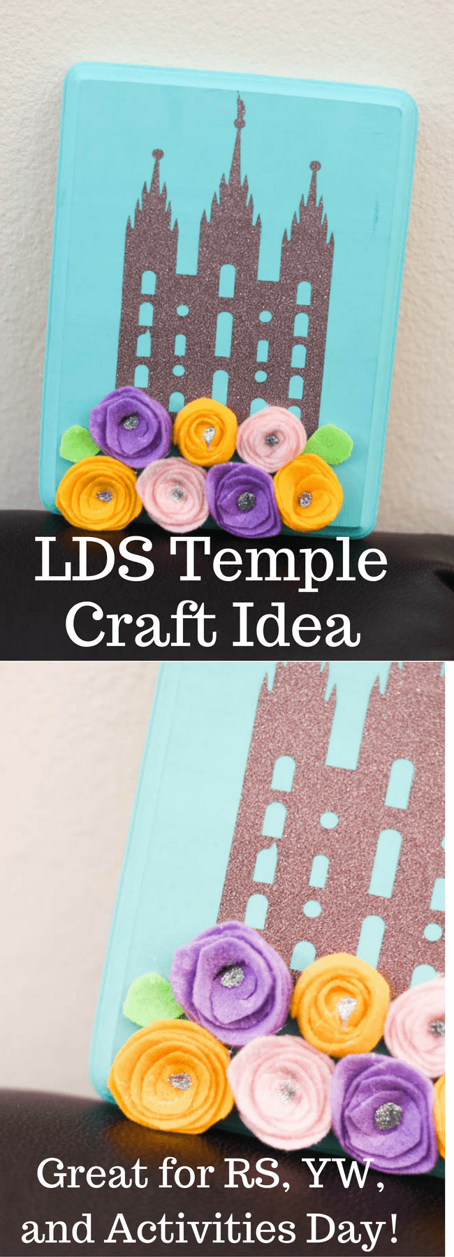 LDS Temples / relief society activities / relief society birthday gifts / young women activities / relief society crafts / lds temple crafts / achievement days / cricut projects / lds craft projects / mormon craft projects via @clarkscondensed