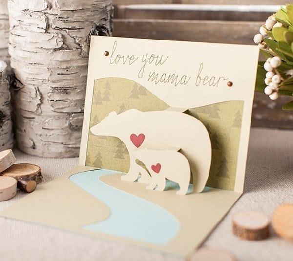 love you mama bear card