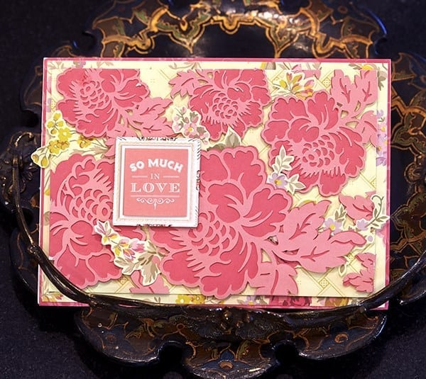 so much love floral card