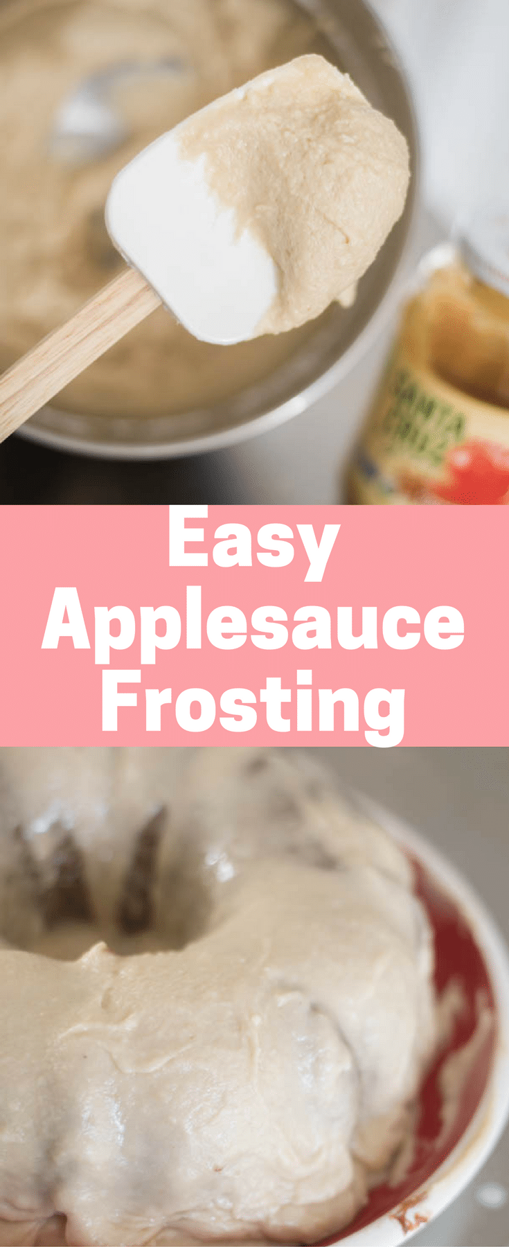 Easy Applesauce Frosting / Applesauce Recipes / Applesauce Glaze / Applesauce Cake / Organic Frosting