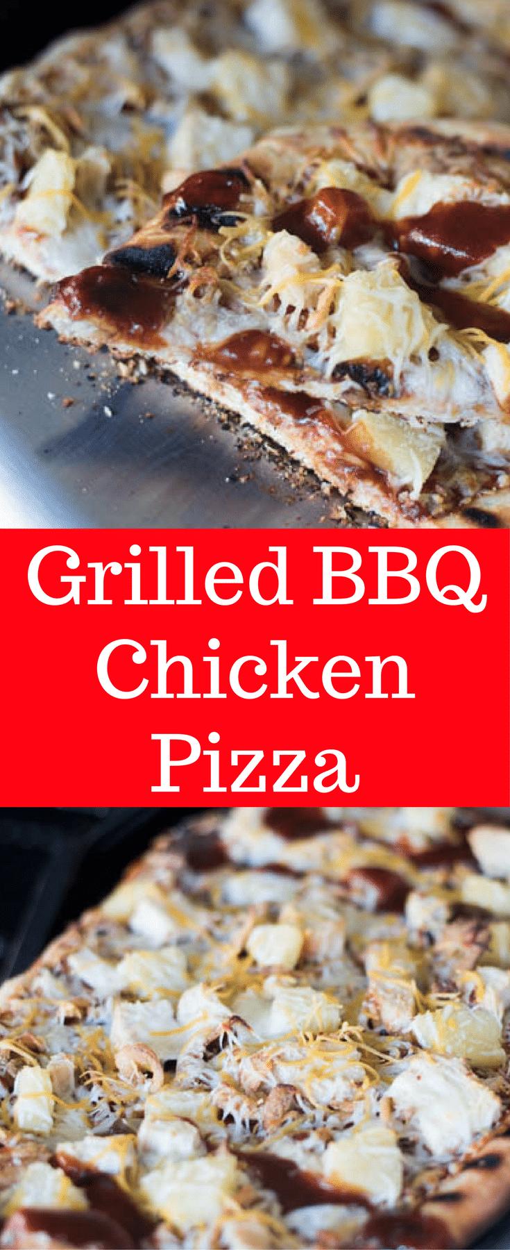 Grilled BBQ Chicken Pizza / BBQ Chicken pizza / BBQ Pizza / Grilled Pizza Ideas / Grilled Pizza Toppings