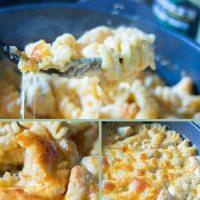 Easy Buffalo Chicken Pasta Bake