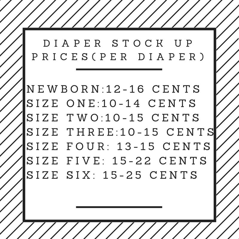 Diaper Stock up Prices