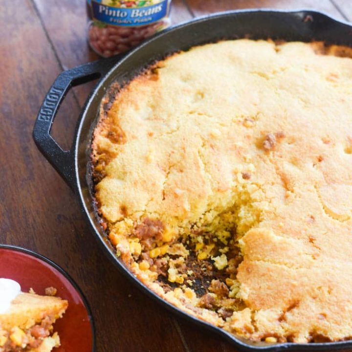 One Skillet Cornbread Casserole