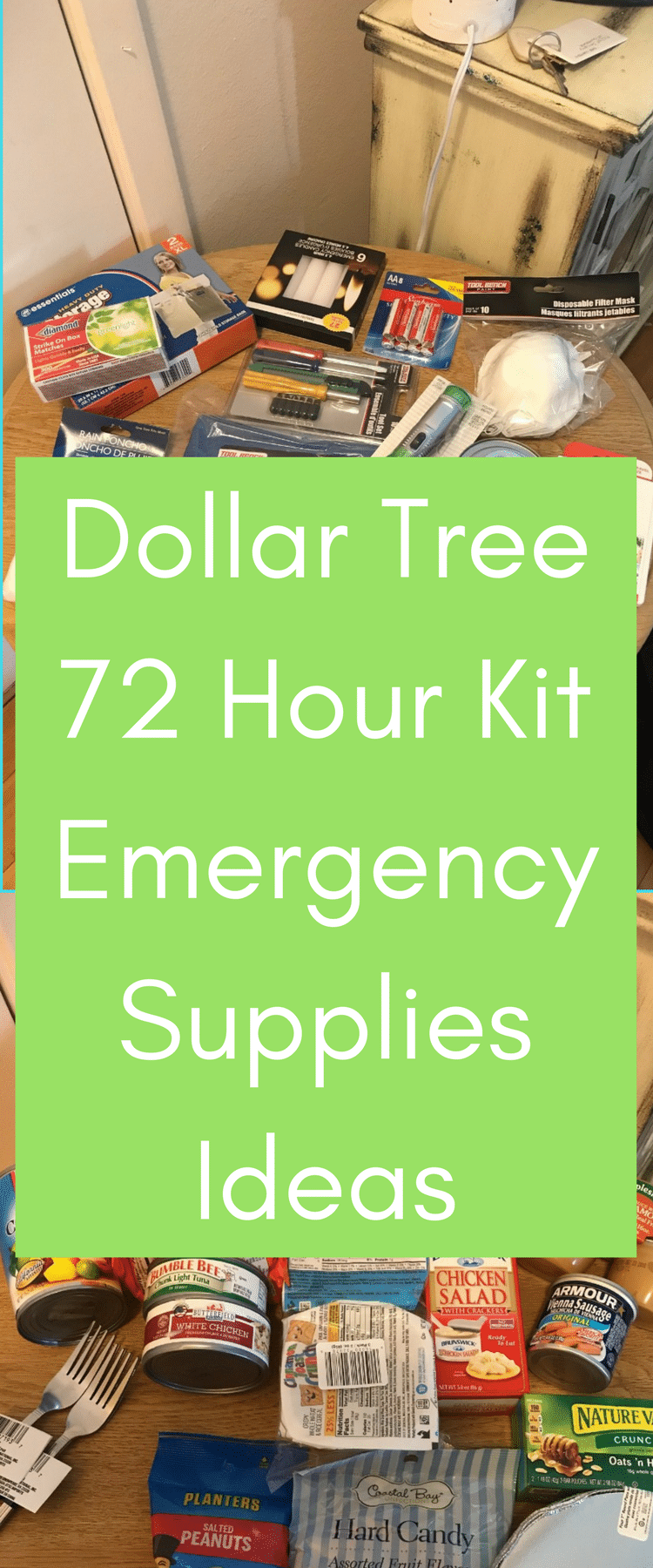 Dollar Tree 72 Hour Kit / Dollar Tree Ideas / Dollar Tree Emergency Supplies / Emergency Prep / 72 Hour kit