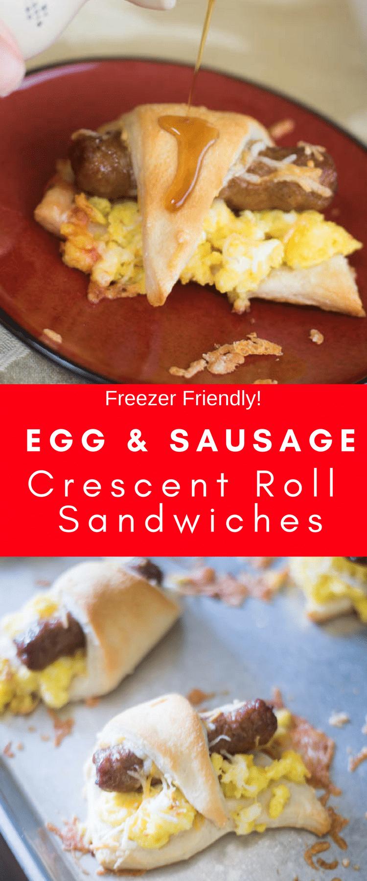 Sausage Breakfast Sandwich / Crescent Roll Recipes / Freezer Breakfast / Freezer Meals / Back to School / Breakfast / Easy Breakfast / #breakfast #sausage #backtoschool #easyrecipe via @clarkscondensed