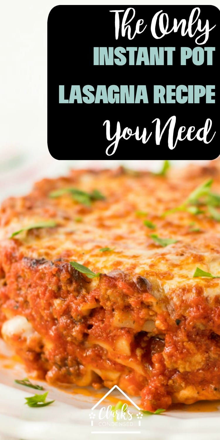 It isn't hard to learn how to cook lasagna in a Instant Pot - in fact, some might call this recipe an Instant Pot miracle lasagna! While this may not be the recipe for you if you are looking for an Instant Pot Lasagna no springform pan, it's sure to be a popular option in your family for years to come. We love this Instant Pot Lasagna casserole recipe - you'll never try anything better! via @clarkscondensed
