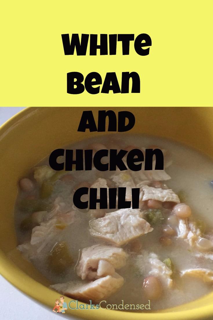 White Bean and Chicken Chili via @clarkscondensed