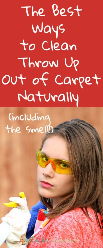 clean up throw up from carpet / cleaning tips / cleaning hacks / kids cleaning / vomit throw up
