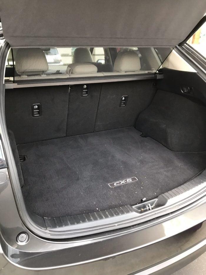 2017 Mazda CX-5 Trunk Space
