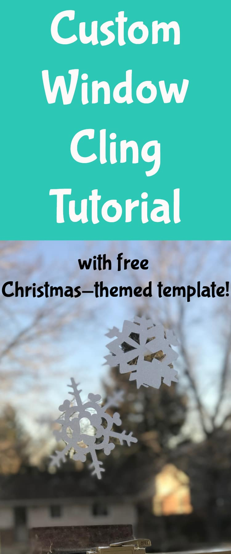 Window Clings / Christmas Window Clings / Snowflake Decoration / Cricut Crafts / Cricut Projects #Cricut #CricutCrafts #CricutProjects #CricutMaker