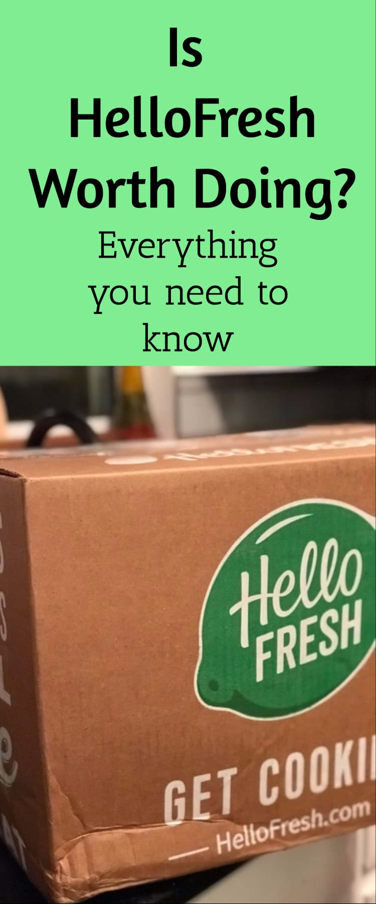 HelloFresh review and discount code via @clarkscondensed