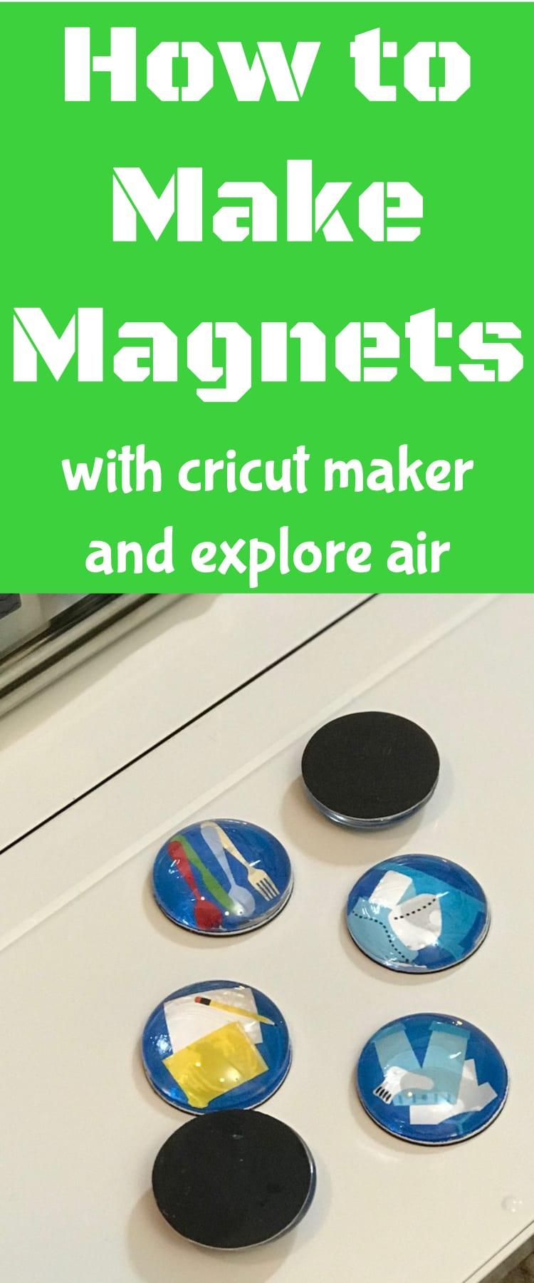 how to make magnets / cricut explore air / cricut maker / diy project / magnet #cricut #cricutmaker #cricutprojects