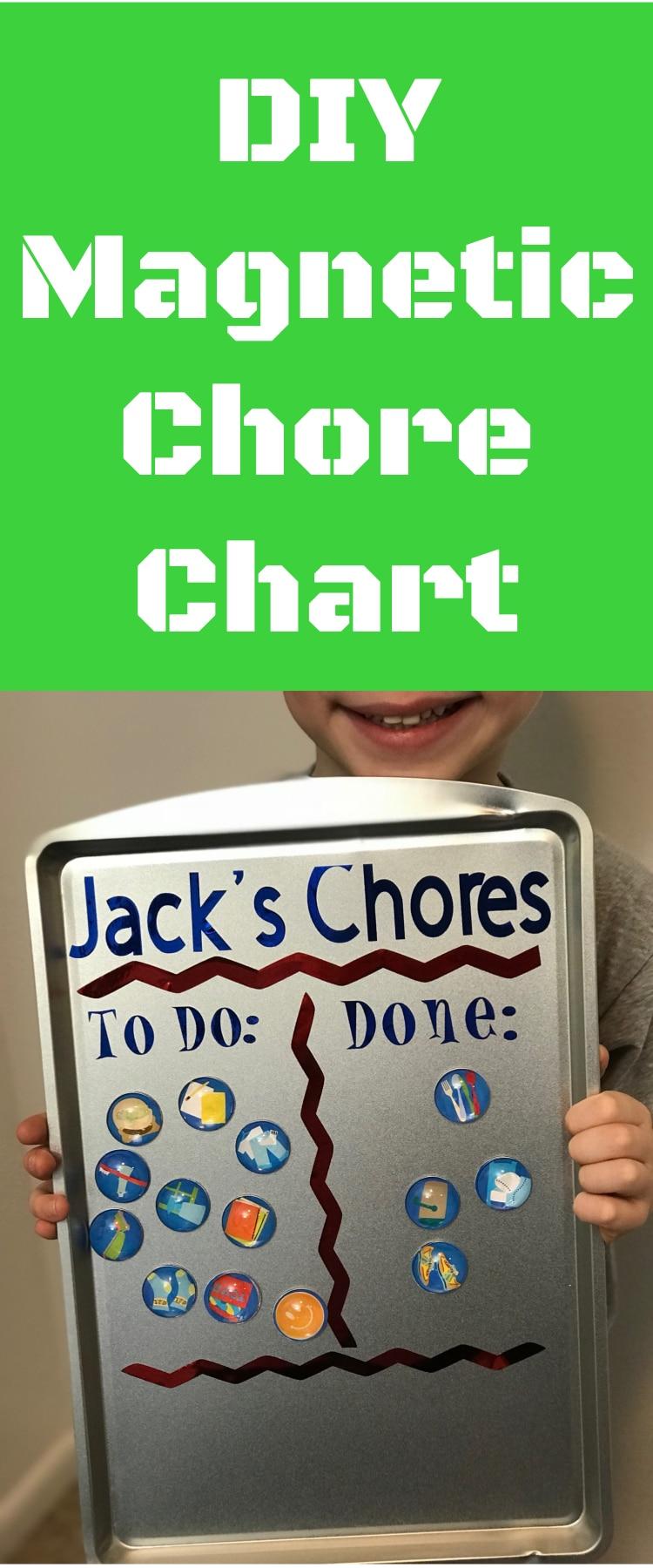 Chore Chart / DIY Chore Chart / Magnet Chore Chart / Cricut Chore Chart / Cricut Crafts #DIY #CricutMaker #CricutExploreAir