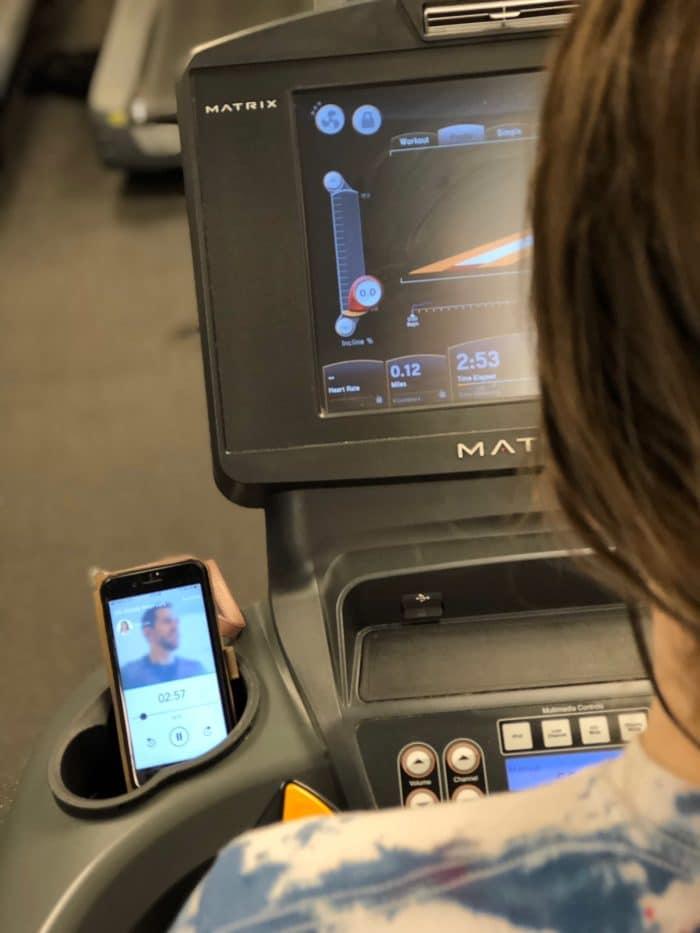 closeup of aaptiv fitness app