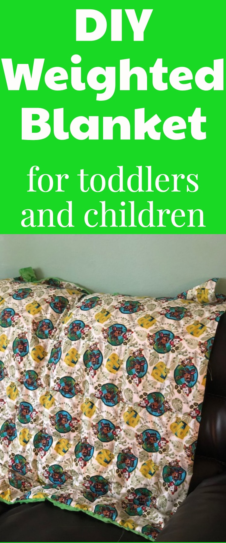 Easy do it yourself weighted blanket