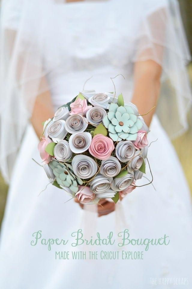 Wedding and Cricut, bride holding flowers