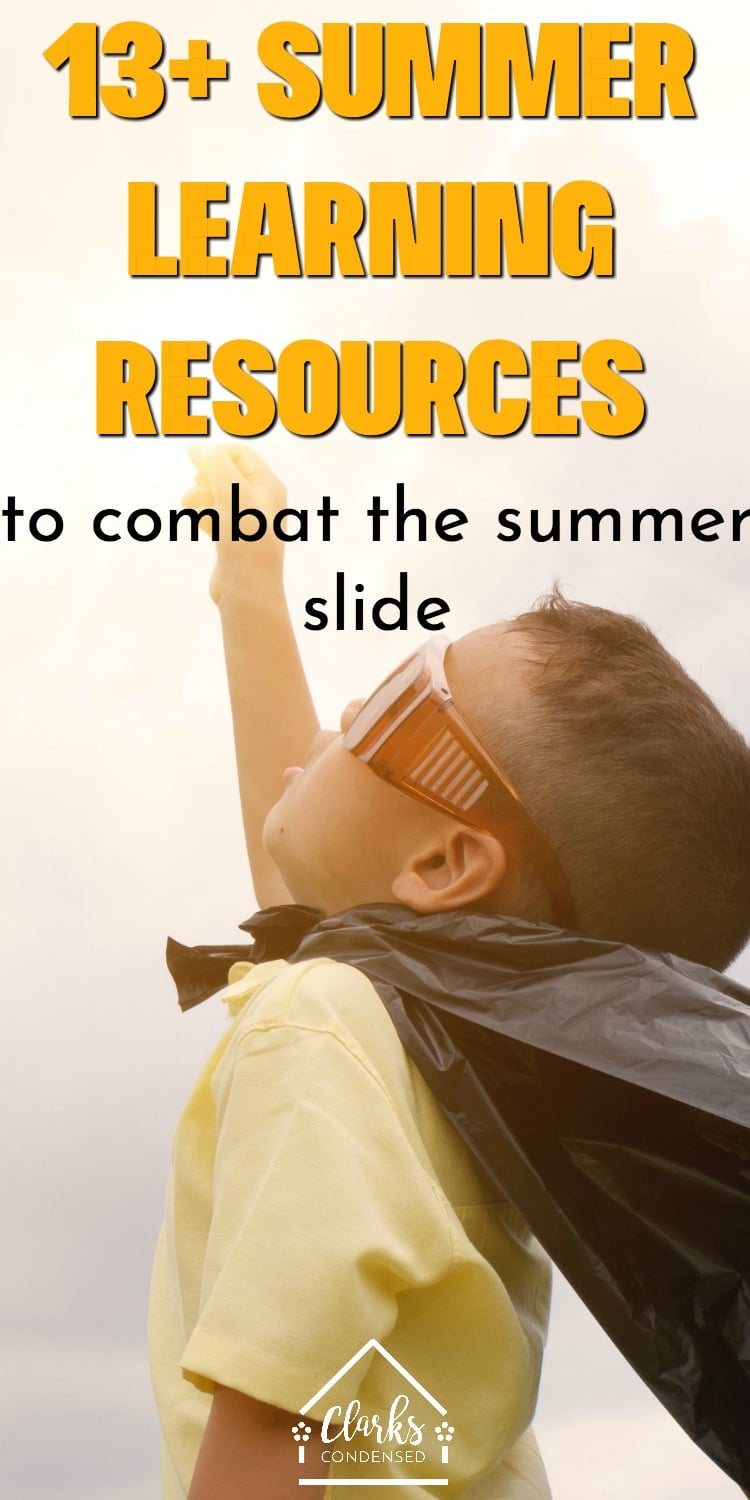 13+ summer learning resources