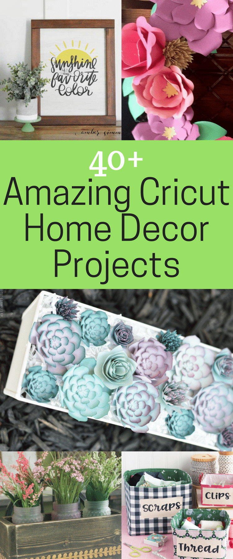 cricut home decor 40+ of the BEST Cricut Home Décor Projects