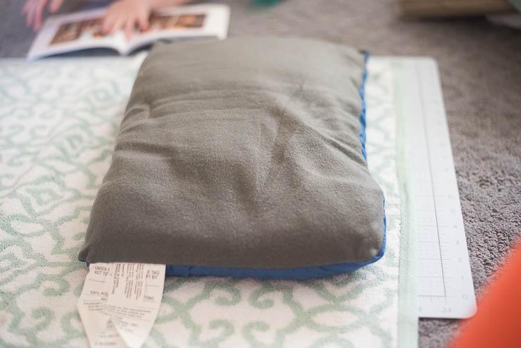 pillow inside towel