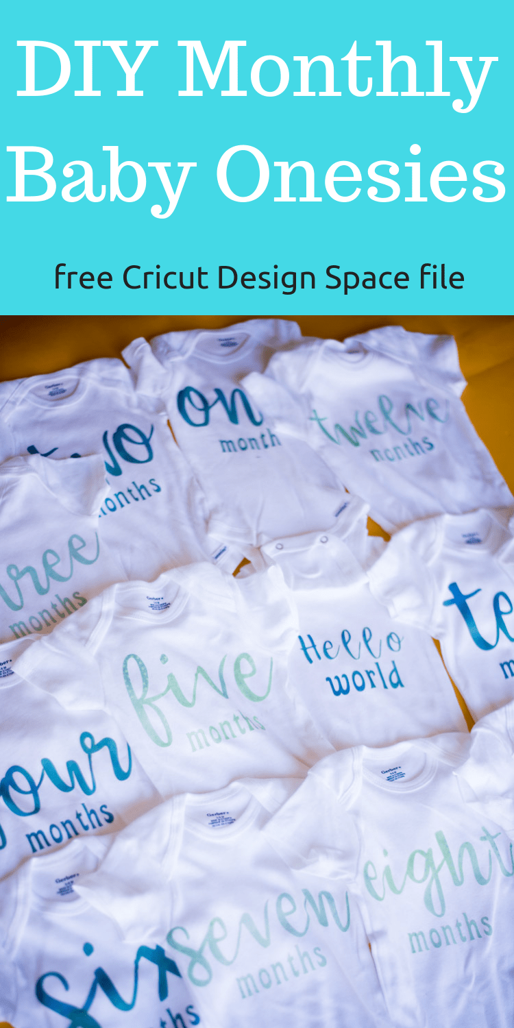 month by month onesies / cricut onesie ideas / baby's first year / baby / DIY baby project / Cricut Baby projets #cricut #cricutmaker #cricutexploreair2 #baby #infant #firstyear #diy #diychildrensclothing via @clarkscondensed