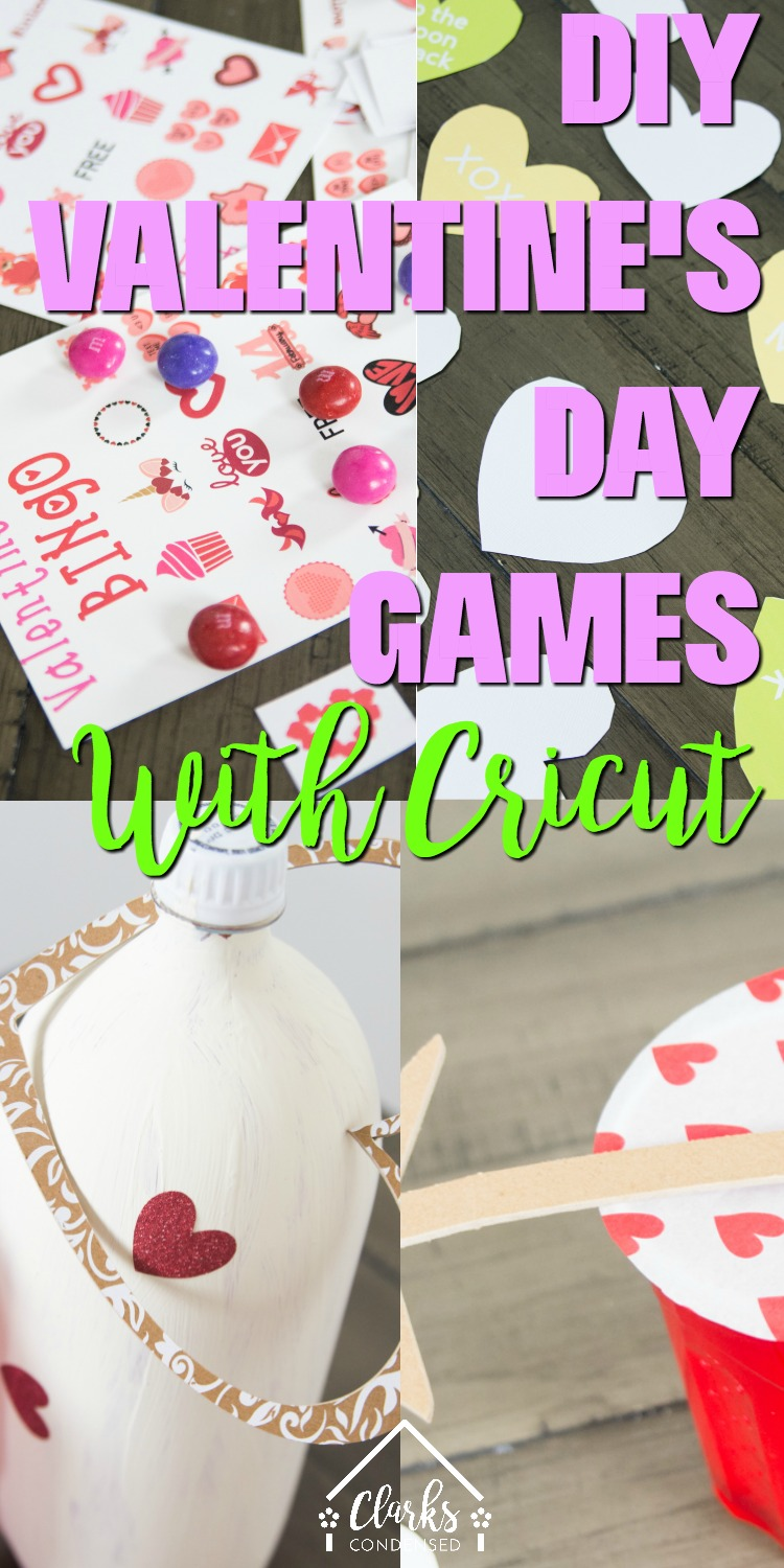 Valentine's Day / DIY Valentine's Day / Games for Valentine's Day / Valentine's Day Games / Cricut / Cricut Made / Class Party #valentinesday #cricut via @clarkscondensed