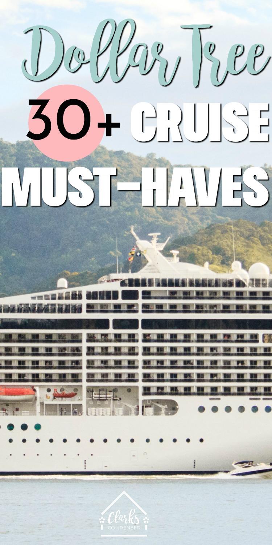 dollar tree / cruise prep / dollar tree cruise / cruise packing list / ideas for cruise #cruise #cruising #travel #dollartree #dollarstore via @clarkscondensed