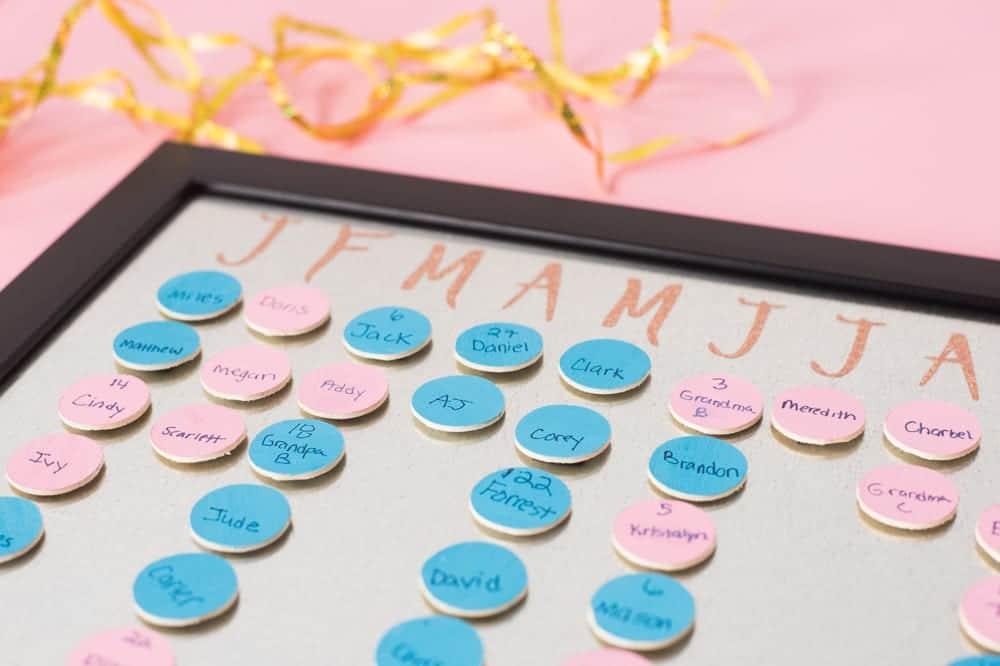 Diy Magnetic Family Birthday Calendar Easy To Update