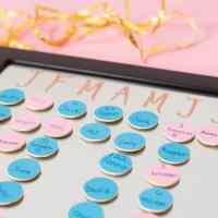 DIY Magnetic Family Birthday Calendar - Easy to Update!