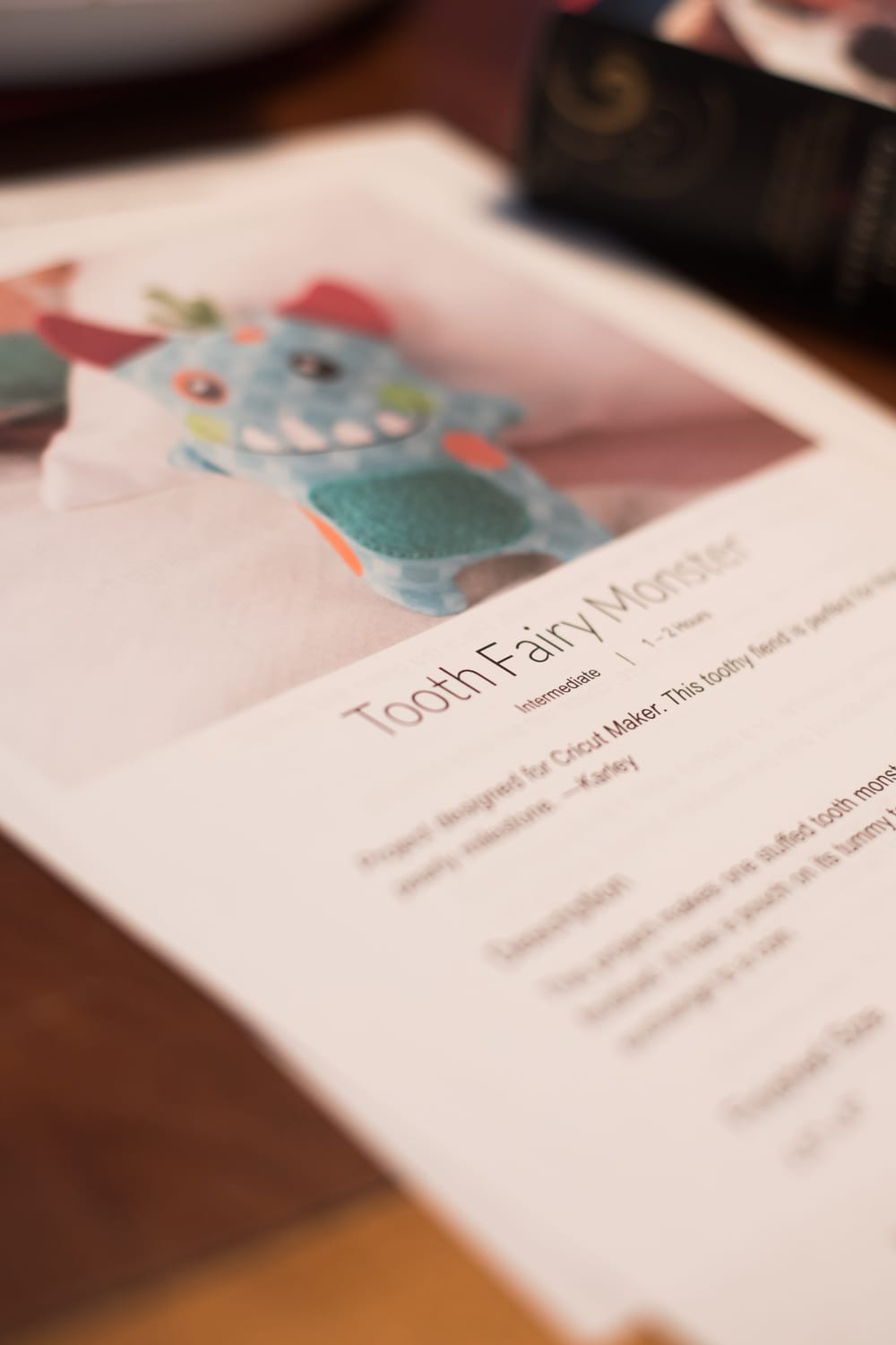 tooth fairy monster instructions