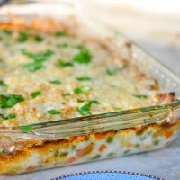 Cheesy Crustless Chicken Pot Pie (gluten free!)