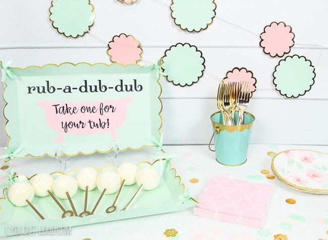 Bath Bomb Baby Shower Favors with Cricut