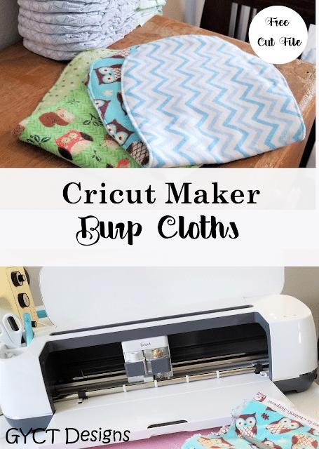 Create Burp Cloths Using the Cricut Maker