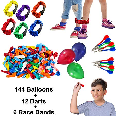 Tigerdoe Carnival Games - Relay Races - Party Games - Birthday Games - Outdoor Activities (Darts, Balloons, 3-Legged Race Bands)