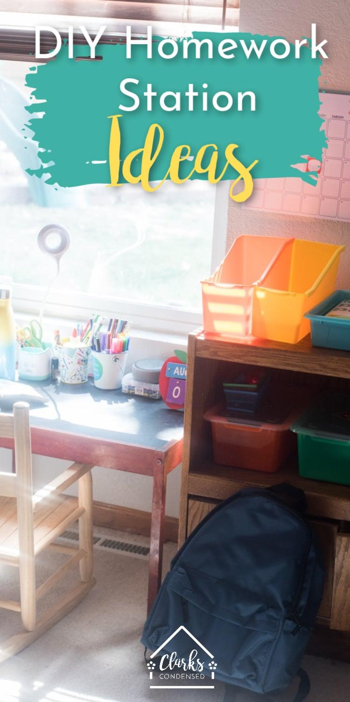 Homework Station / Homework Station Ideas / Kids HOmework School / Back to School  via @clarkscondensed